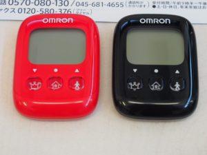 歩数計です。黒、赤から選べます